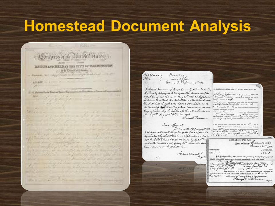 Homestead Document Analysis