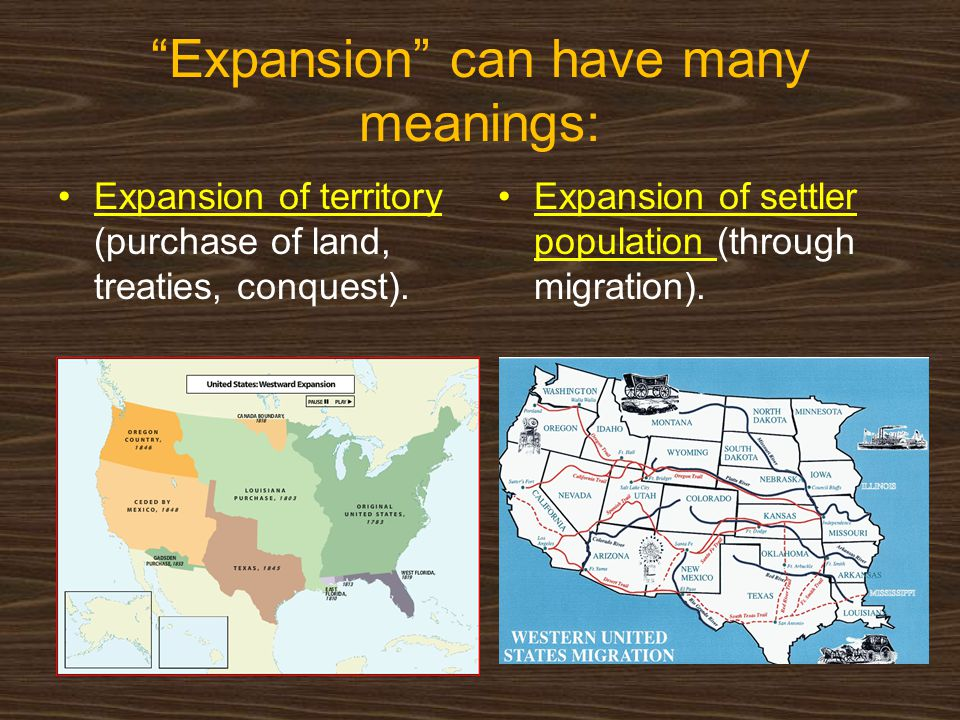 Expansion can have many meanings: