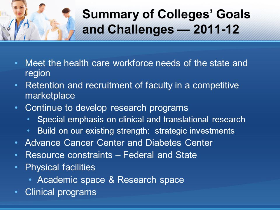 Summary of Colleges' Goals and Challenges — 2011-12