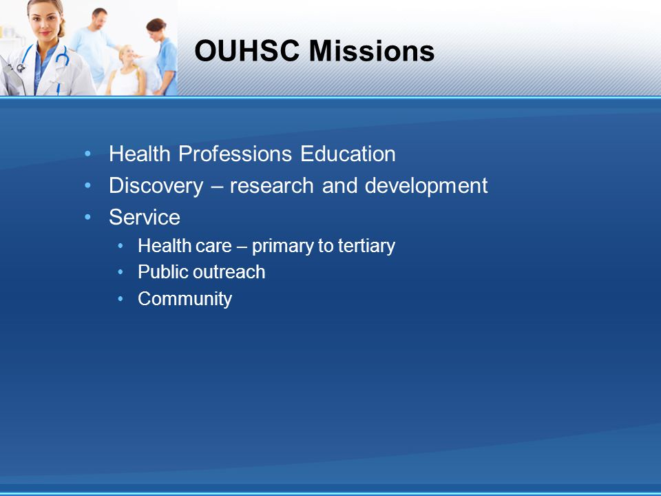 OUHSC Missions Health Professions Education