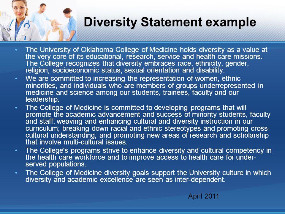 Diversity Statement example