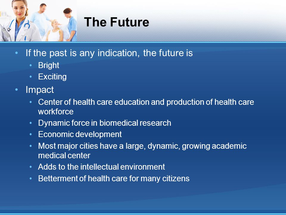 The Future If the past is any indication, the future is Impact Bright