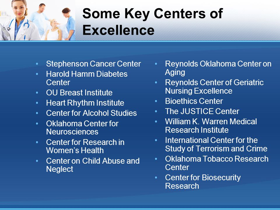 Some Key Centers of Excellence