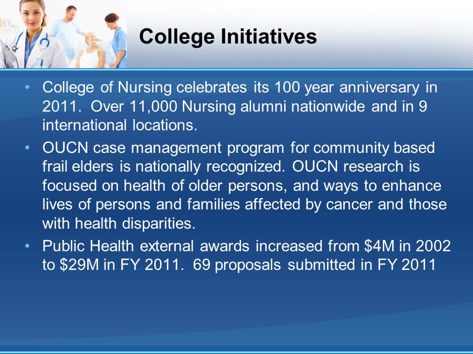 College Initiatives