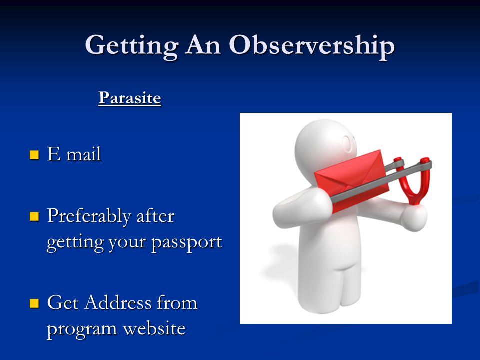 Getting An Observership