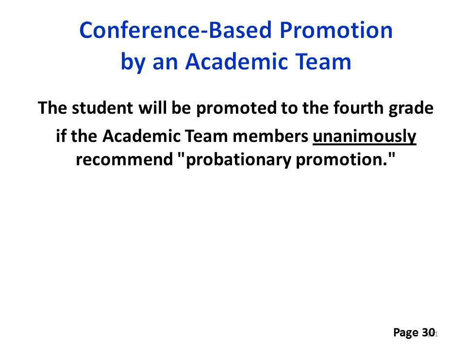 Conference-Based Promotion