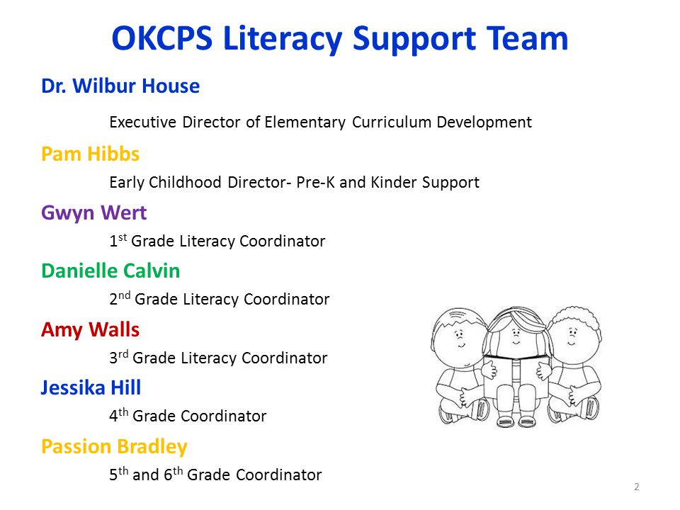 OKCPS Literacy Support Team