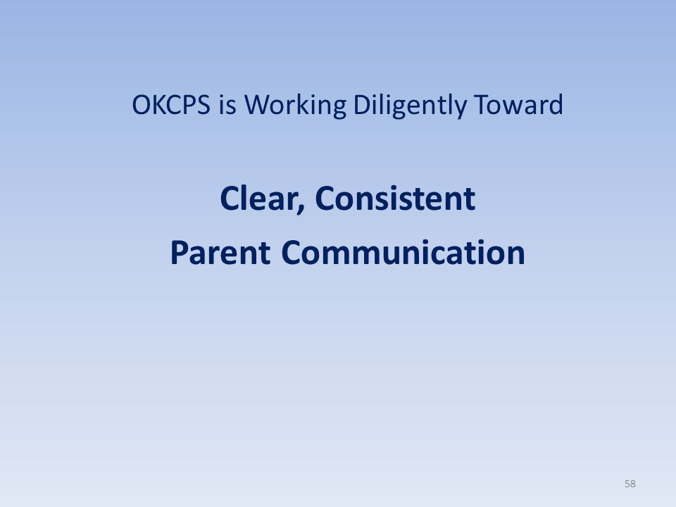 OKCPS is Working Diligently Toward
