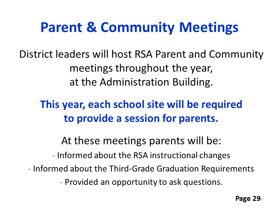 Parent & Community Meetings