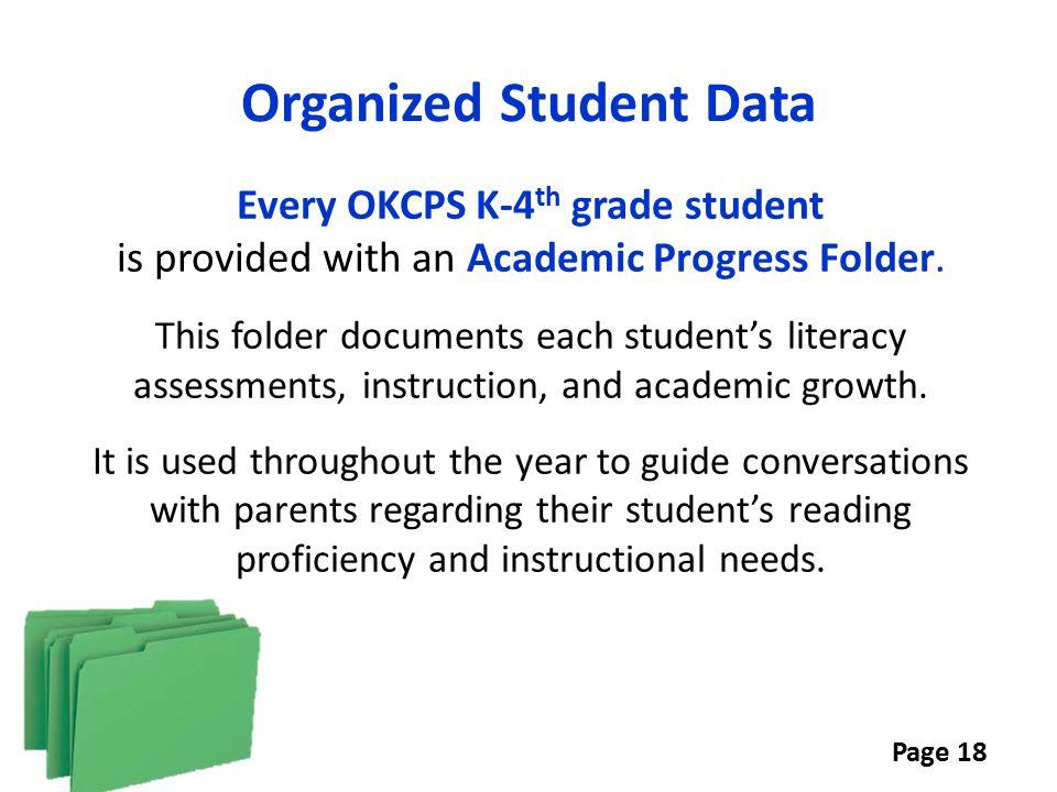 Organized Student Data