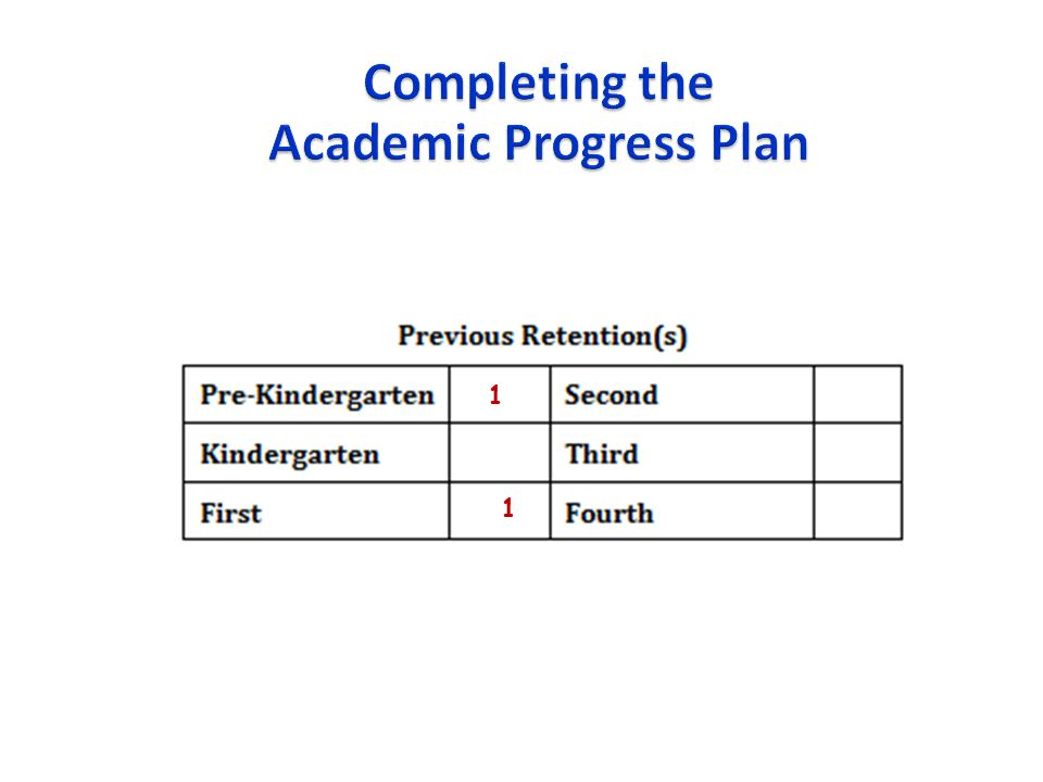Academic Progress Plan