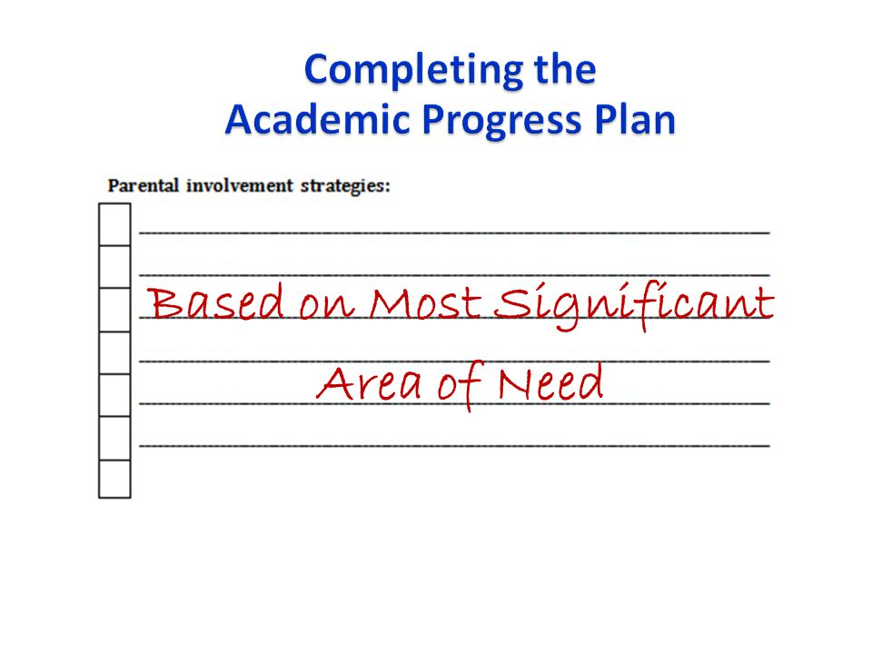 Academic Progress Plan Based on Most Significant