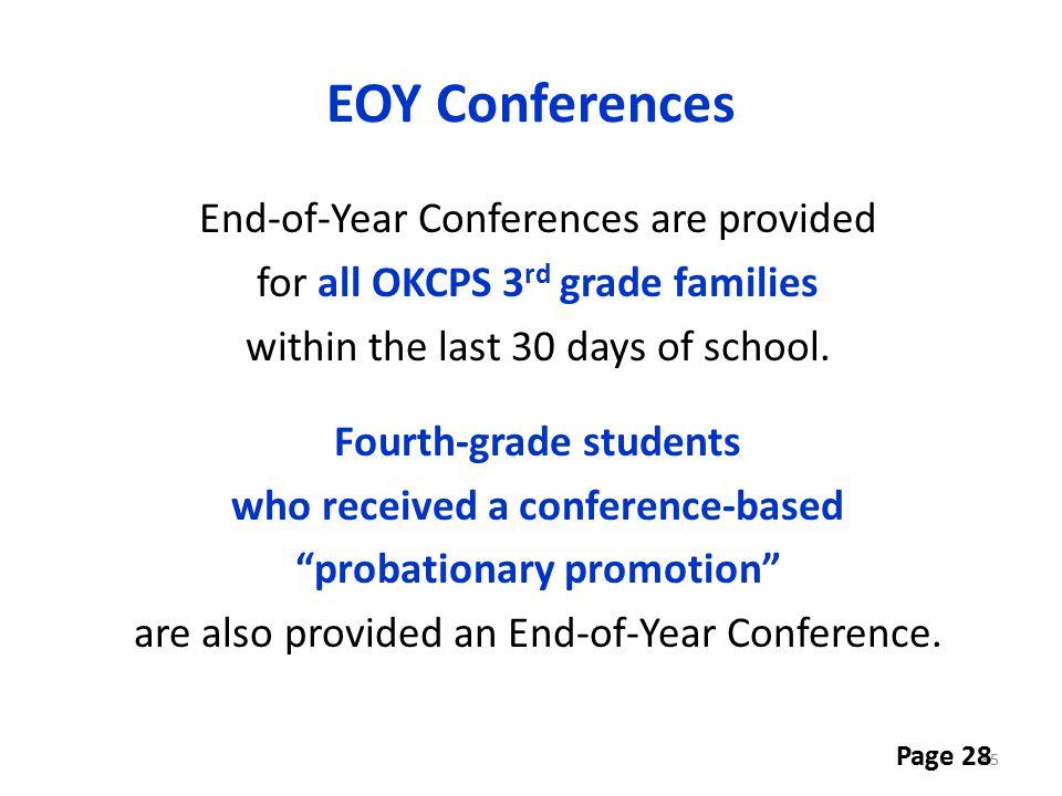 EOY Conferences