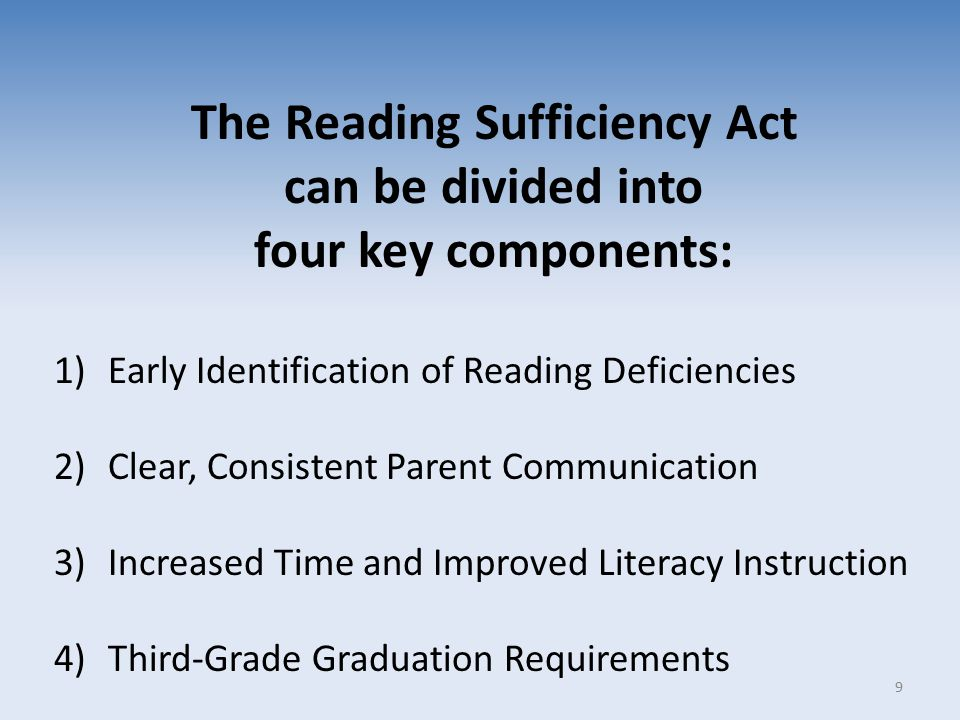 The Reading Sufficiency Act