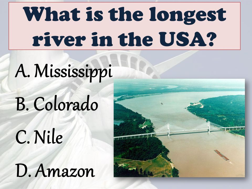 What is the longest river in the USA