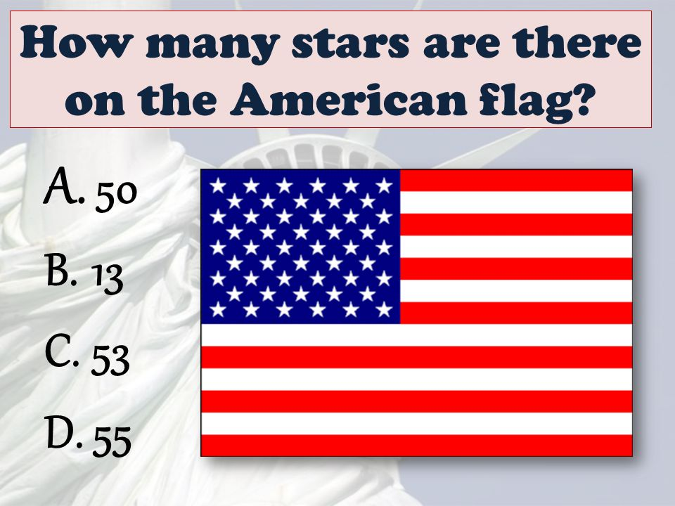How many stars are there on the American flag