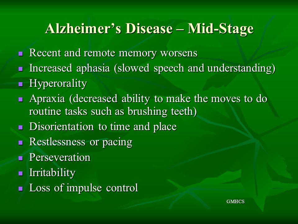 Alzheimer's Disease – Mid-Stage