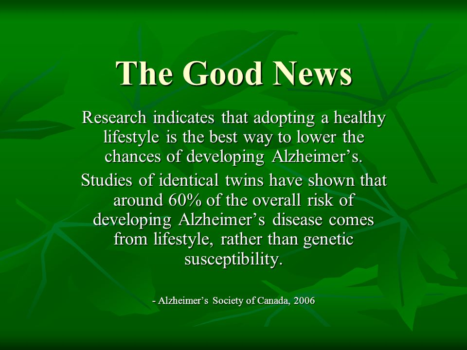 - Alzheimer's Society of Canada, 2006