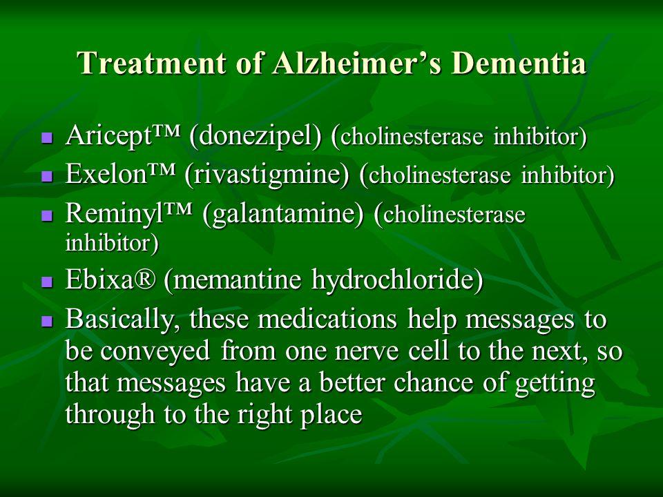 Treatment of Alzheimer's Dementia