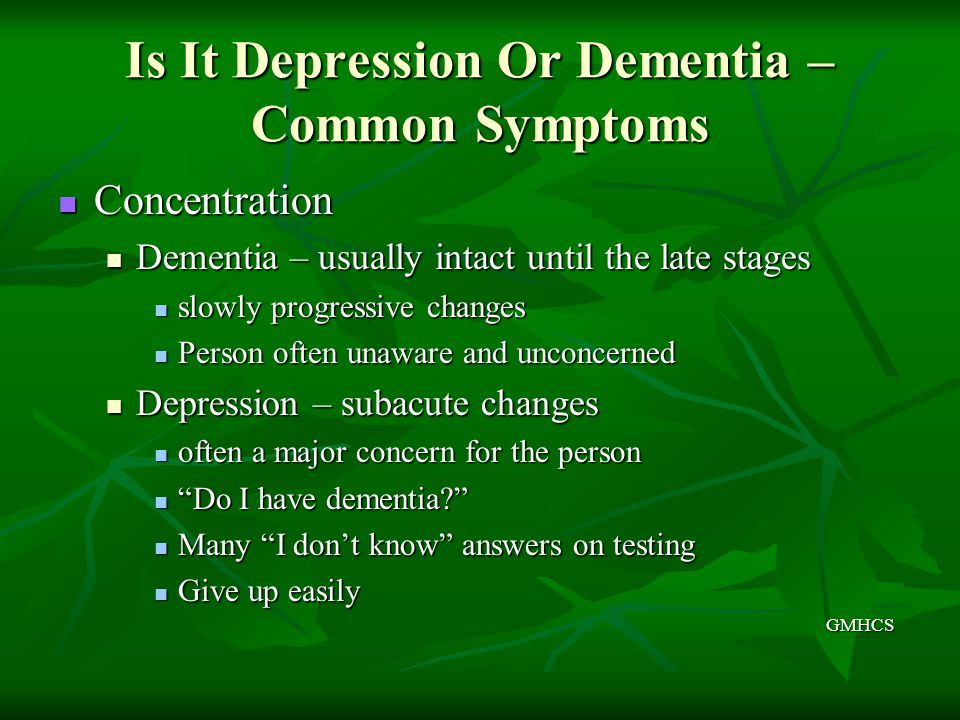 Is It Depression Or Dementia – Common Symptoms