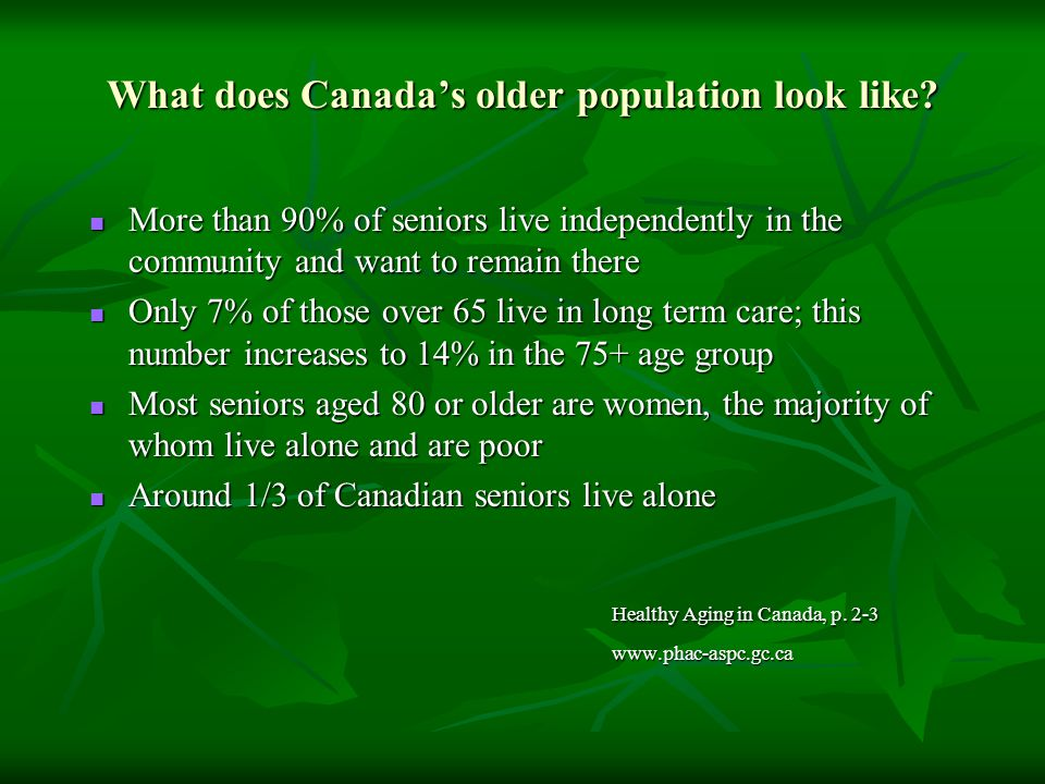 What does Canada's older population look like