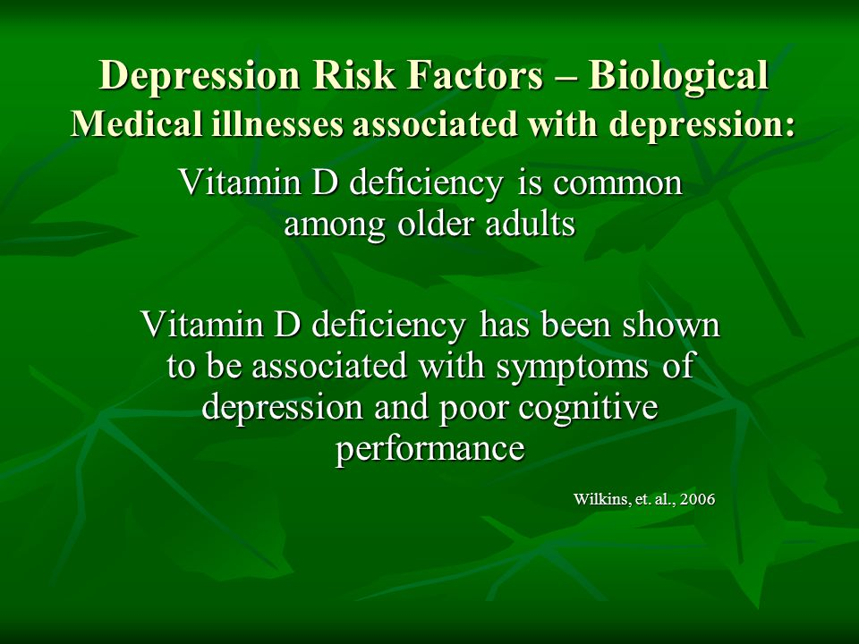 Vitamin D deficiency is common among older adults