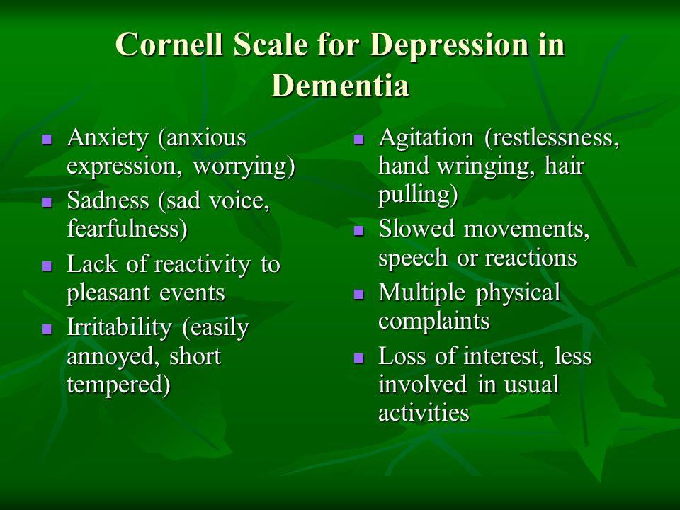 Cornell Scale for Depression in Dementia