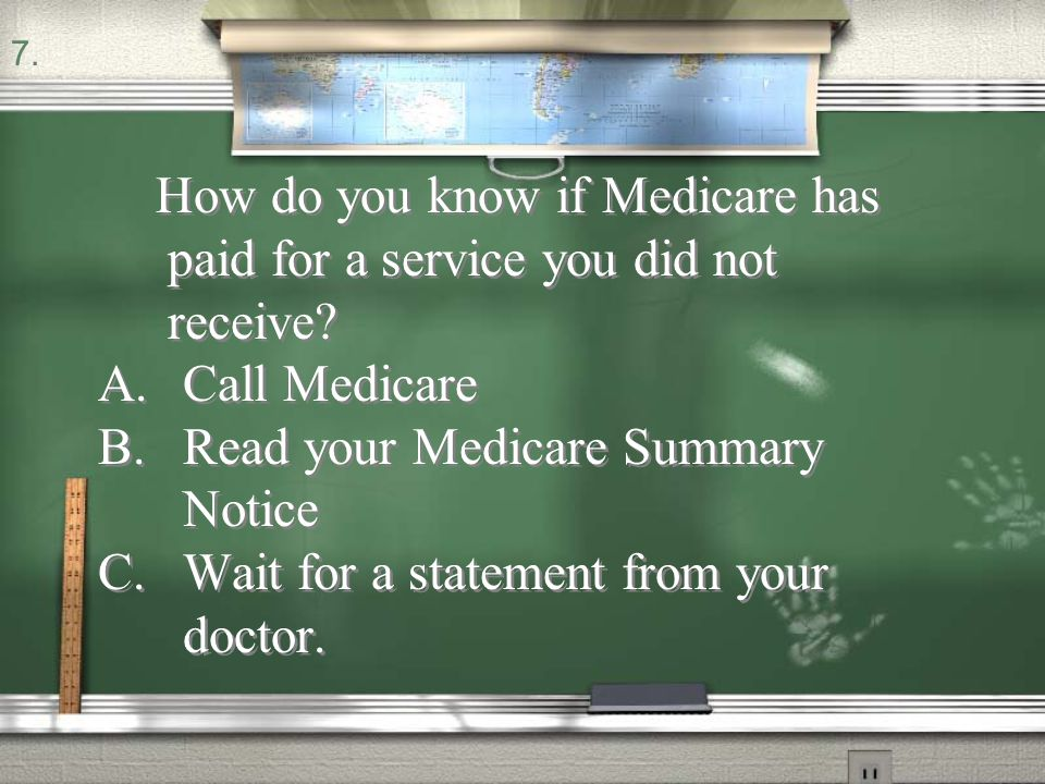 Read your Medicare Summary Notice