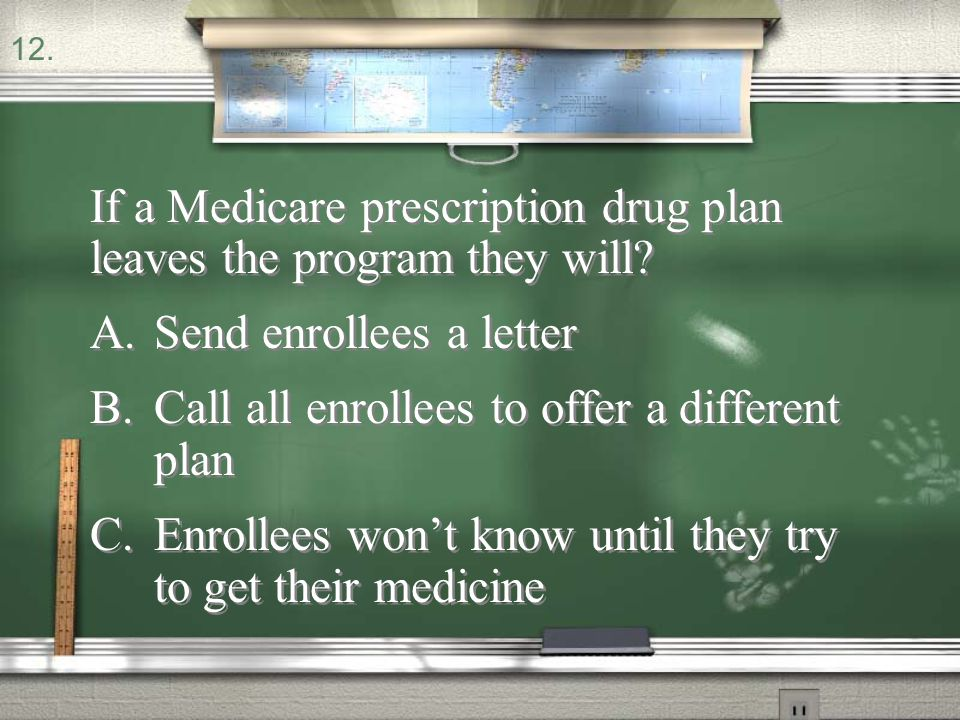 If a Medicare prescription drug plan leaves the program they will