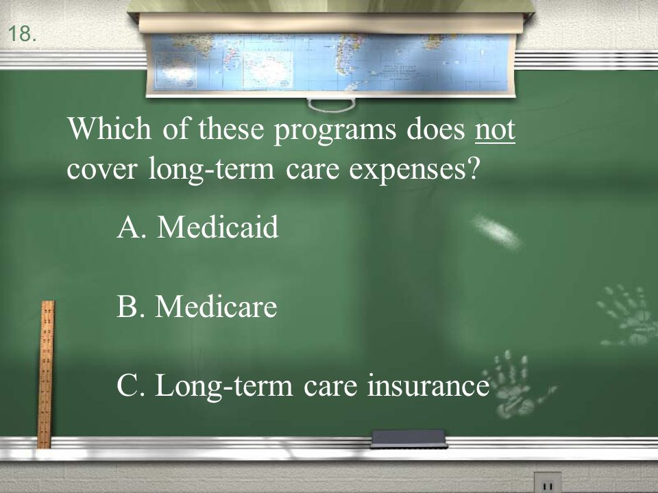 Which of these programs does not cover long-term care expenses