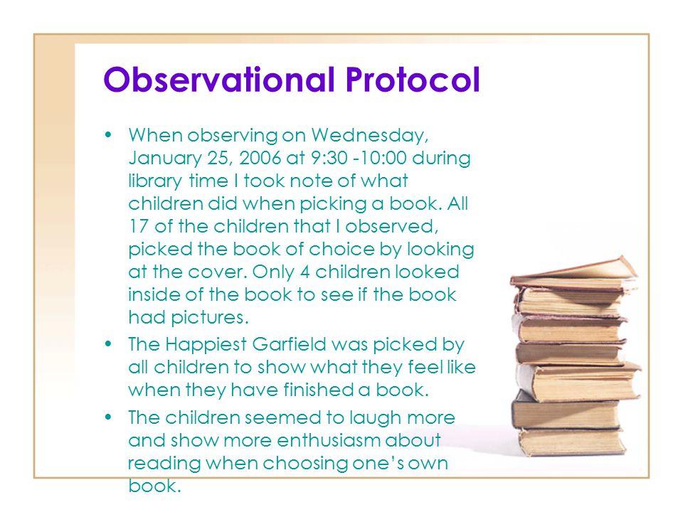 Observational Protocol