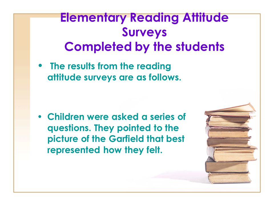 Elementary Reading Attitude Surveys Completed by the students