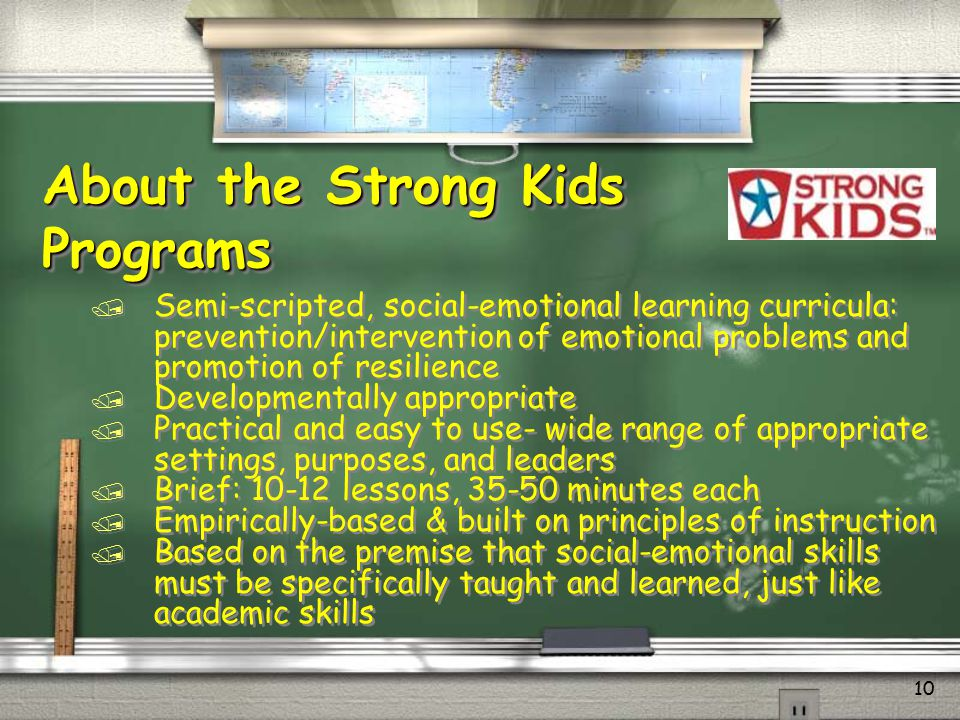 About the Strong Kids Programs