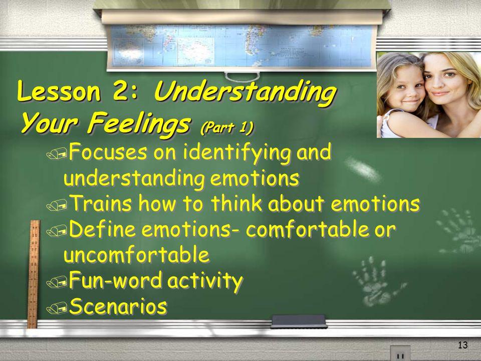 Lesson 2: Understanding Your Feelings (Part 1)