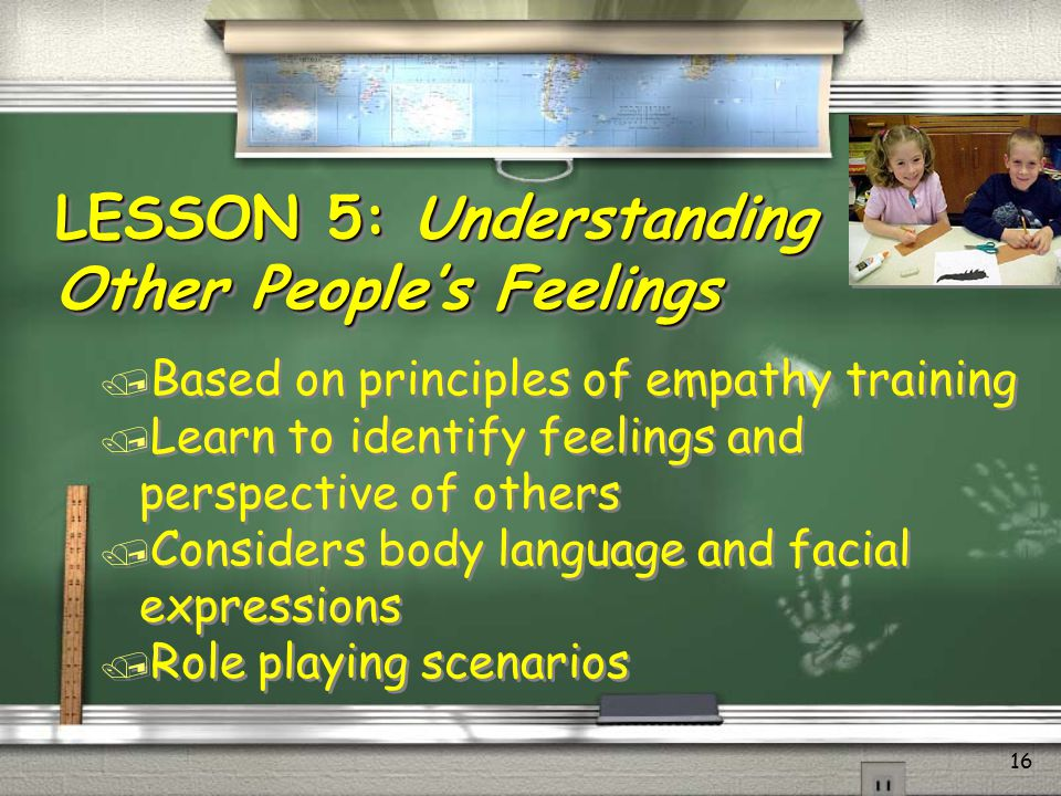 LESSON 5: Understanding Other People's Feelings