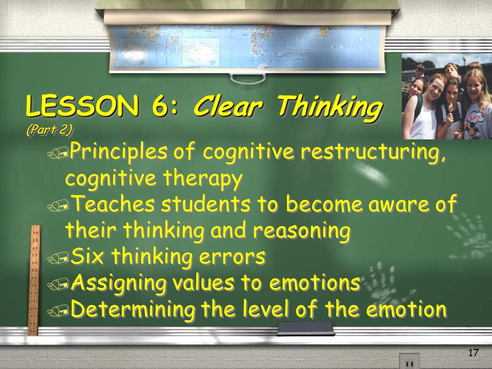 LESSON 6: Clear Thinking (Part 2)