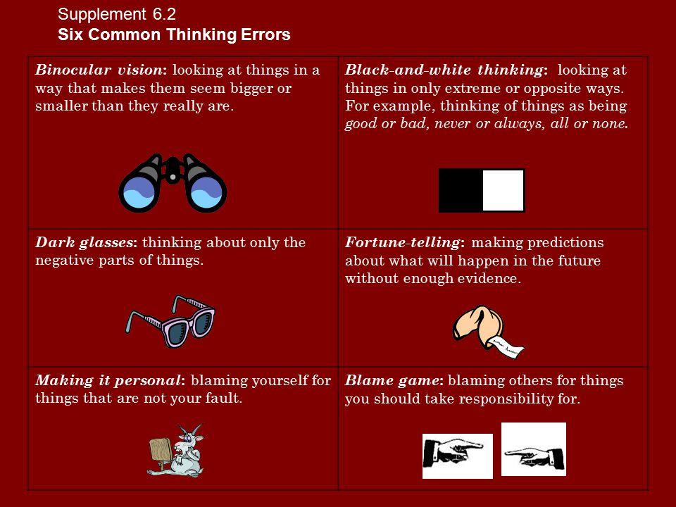 Six Common Thinking Errors
