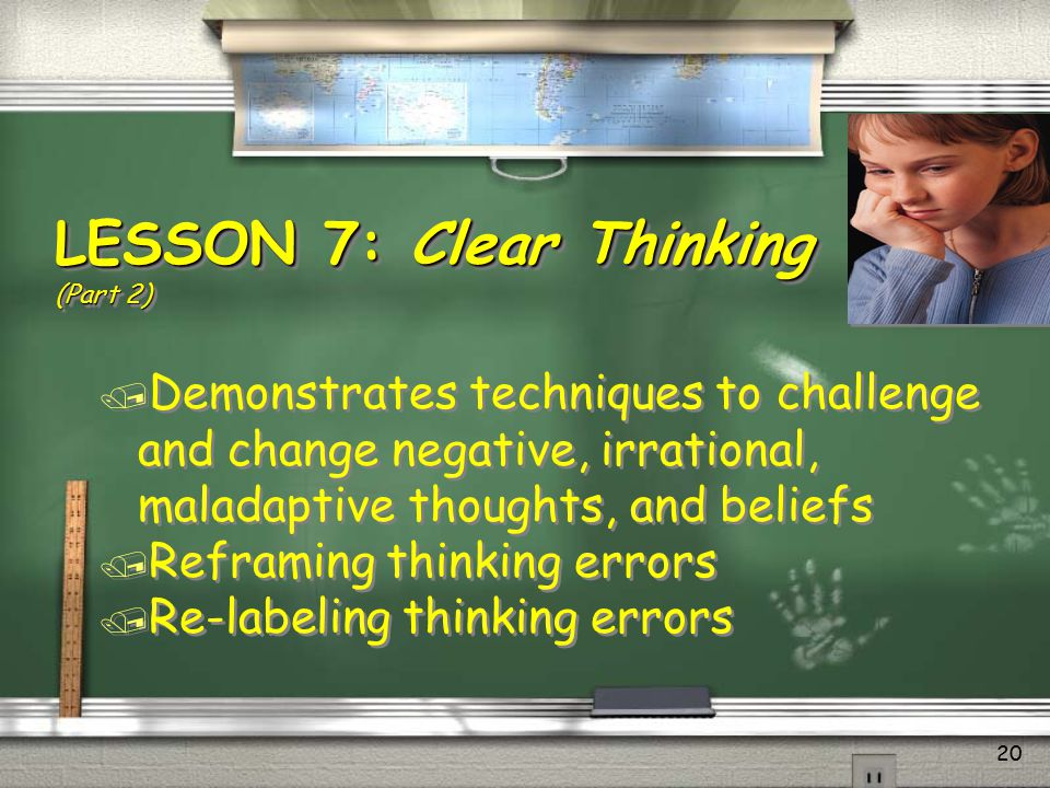 LESSON 7: Clear Thinking (Part 2)