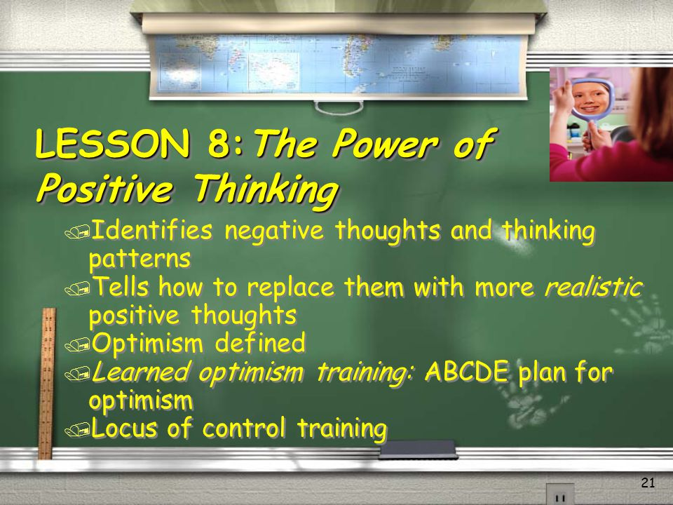 LESSON 8:The Power of Positive Thinking