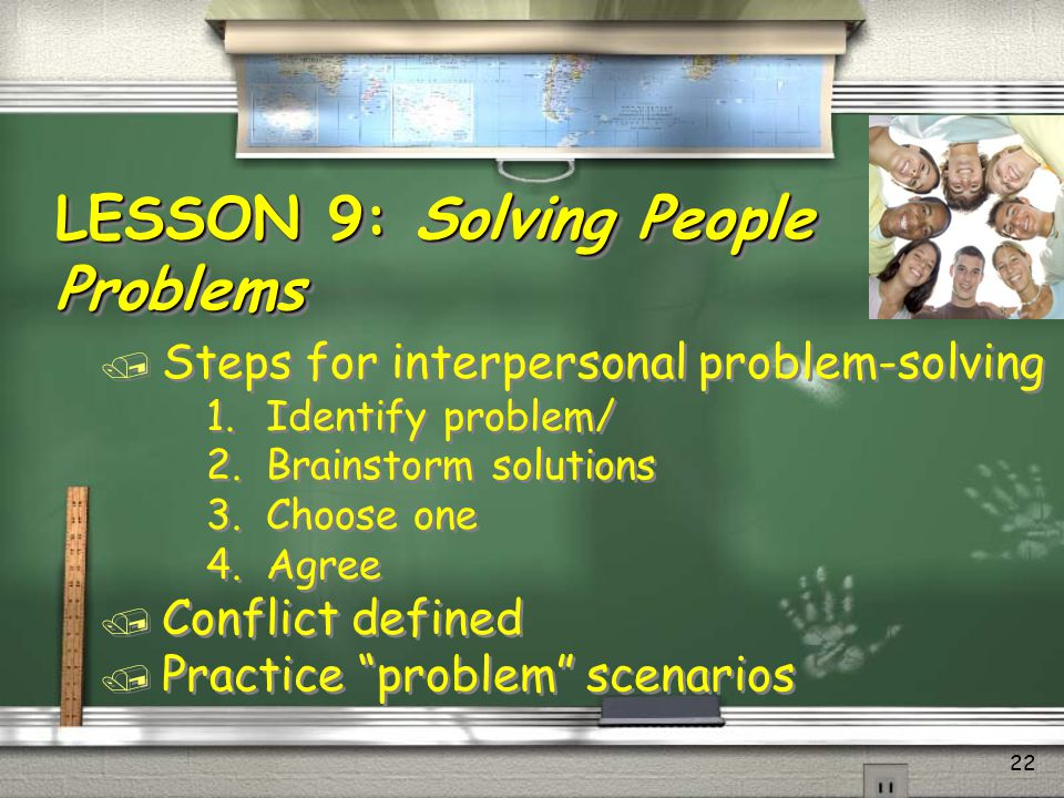 LESSON 9: Solving People Problems