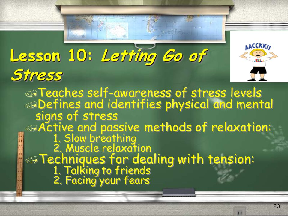 Lesson 10: Letting Go of Stress