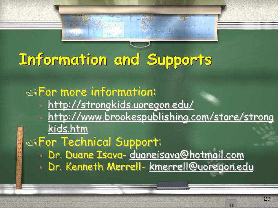 Information and Supports