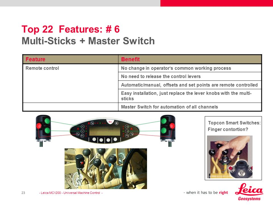 Top 22 Features: # 6 Multi-Sticks + Master Switch