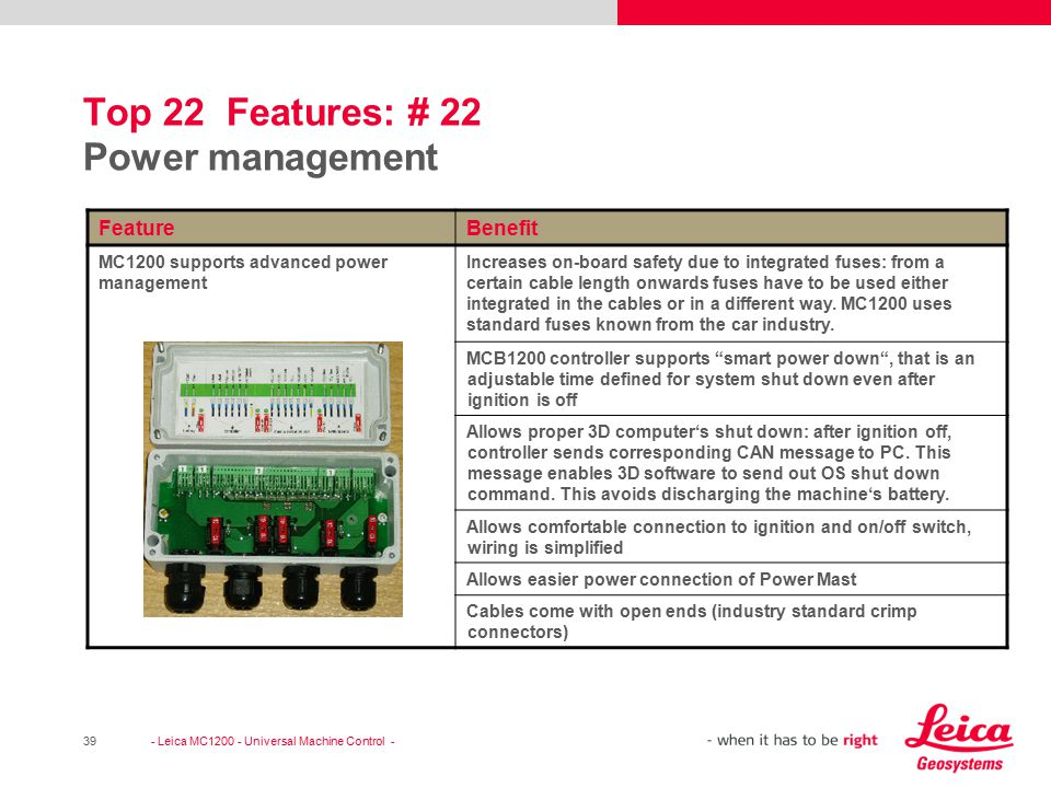 Top 22 Features: # 22 Power management