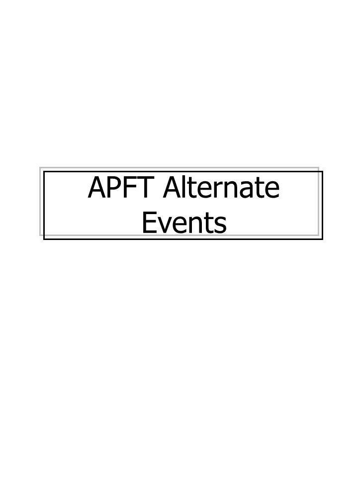 APFT Alternate Events