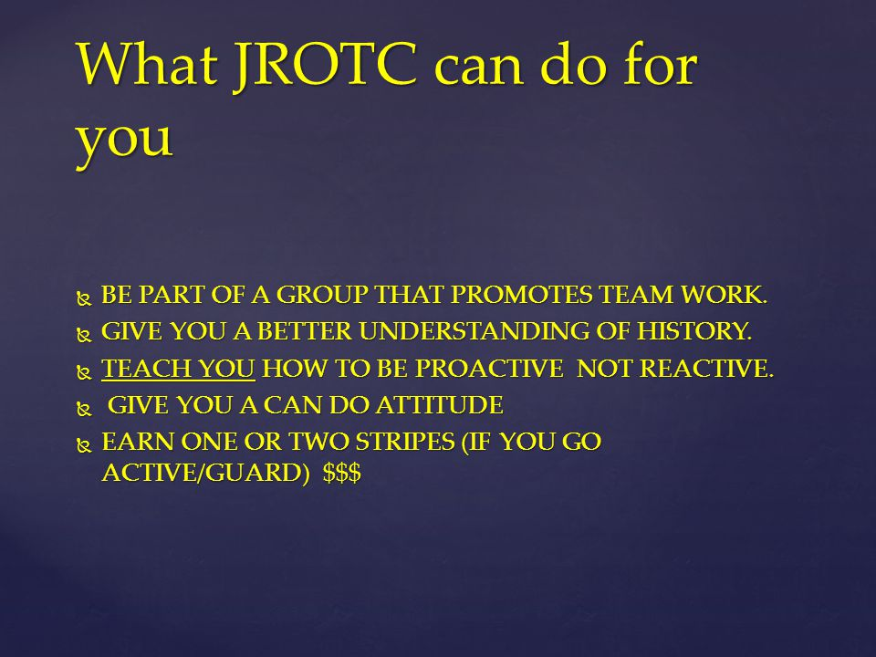 What JROTC can do for you