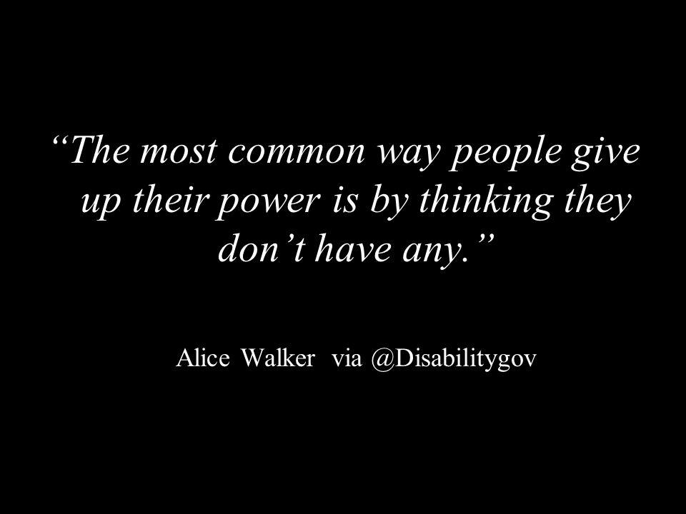 Alice Walker via @Disabilitygov