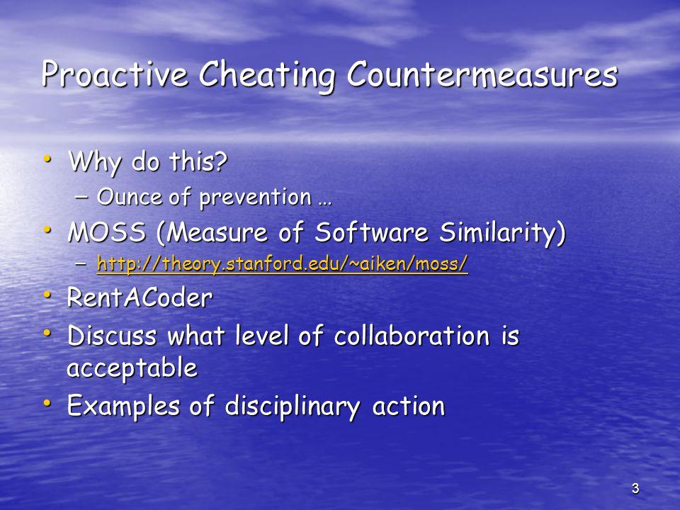 Proactive Cheating Countermeasures