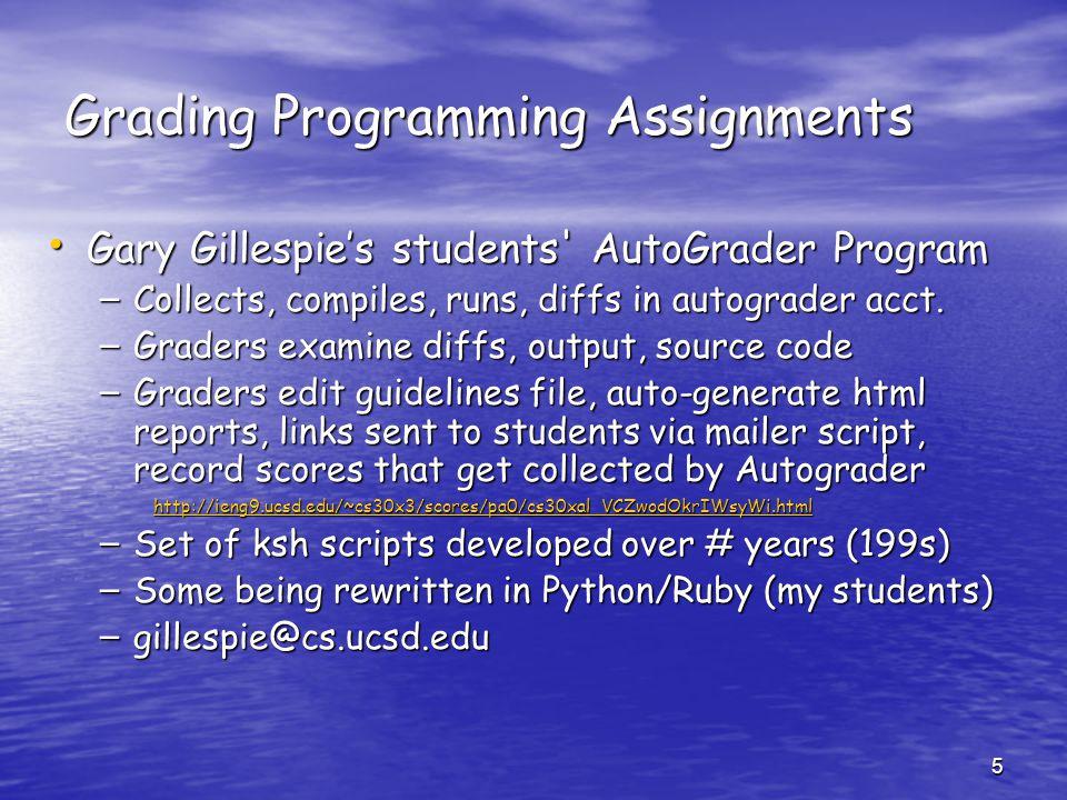 Grading Programming Assignments