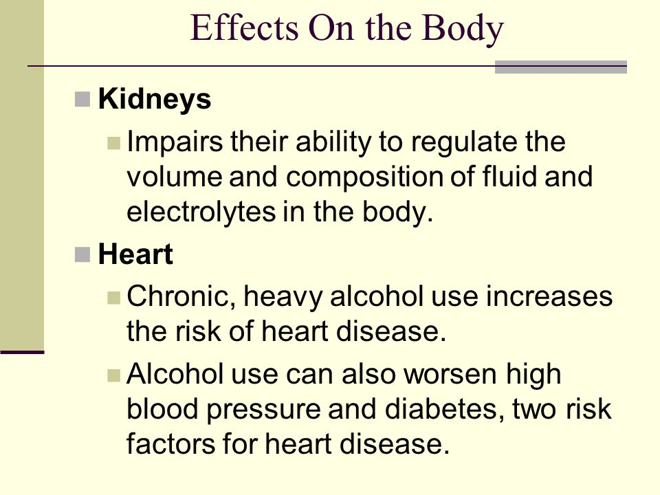 Effects On the Body Kidneys